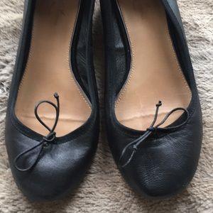 Leather ballet shoe